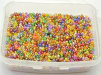 Cheap 5000 Luster AB Color Glass Seed Beads 2mm Transparent + Storage Box