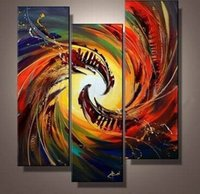 contemporary oil paintings - 2015 Hand Painted Canvas Oil Painting Household Adornment Picture Contemporary Art Color Abstract P Group