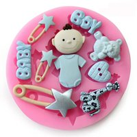 Wholesale 1PCS baby Shape party Silicone babies for sale Cake mold mould sugarcraft Fondant Decorating Tools kitchen accessories