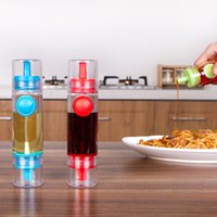 Wholesale Plastic Transparent Cooking Oil Vinegar Dispenser Bottle Sprayer Kitchen Tool