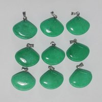 Wholesale natural Malay jade Pendants green jade Pendant for jewelry making Charm Sector stone Pendant