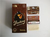 Cheap 50 booklets lot brown healthy smoking Cigarette rolling Paper size 70mm 60leaves booklet