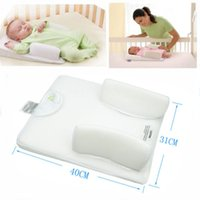 backed head - 2005 Baby Infant Newborn Anti Roll Pillow Sleep Positioner Prevent Flat Head Cushion