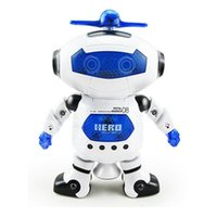 Wholesale Lovely funny degree rotation puzzle dancing robot toys with music and light Children electric robot pet