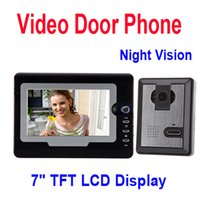 Wholesale Hot Sale quot TFT Color LCD Display Video Door Phone Visual Intercom Doorbell Hands Free IR Night Vision Freeshipping fr