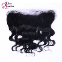 Wholesale High Quality Brazilian Virign Hair Top Lace Frontal Body Wave Human Hair Extensions Shipping Free