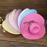 Wholesale 2015 new Korean bow woven straw hat Dayan Mao papyrus large brimmed hat straw hat B1058