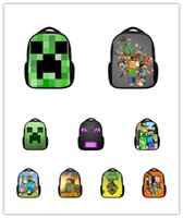 Wholesale 2015 style Minecraft bags New Minecraft backpacks Creative My World Schoolbags Unique Creeper Bags Cartoon kids schoolbags