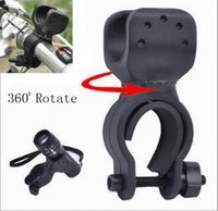 Wholesale free shiping Rotate bicycle truck racks Cycling Flashlight Mount Bicycle Light Holder Clamp Torch Clip