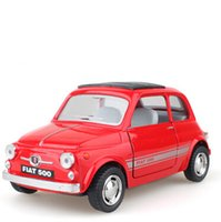 Wholesale Fiat Scale Emulational Electric Alloy Diecast Models Car Toys Brinquedos Miniature Pull Back Cars Doors Openable