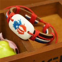 best flag material - Best Charm Bracelet Cute Color Children Charm Bracelets Leather Material High Quality Where to Buy Charm Bracelets TSZ007