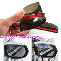 auto weatherstrip - Car Stickers Rearview mirror Rain Shade Universal Block rain PVC Weatherstrip Auto Mirror Rainproof Rain eyebrow