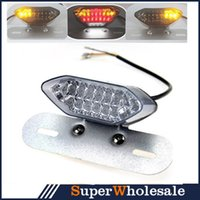 Wholesale HOT High Quality Universal V Smoke LED Motorcycle Tail Turn Signal Brake License Plate Integrated Light