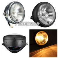 Wholesale Motorcycle accessories retro round metal inch headlamps modified Harley cool black front headlight