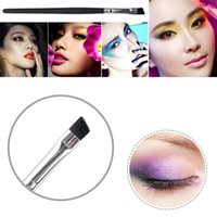 angled eye liner brush - New Arrivals Foundation Angled Eyebrow Eye Liner Makeup Brushes Brow Tool Black Handle High Quality IA2