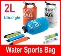 Wholesale Ultralight Outdoor Travel Rafting Canoe Portable Waterproof Storage Dry Bag Swimming L Small Blue White Orange Green
