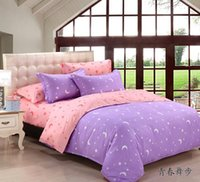 aa comforters - NEW AA Home textiles Purple pink star moon bedding sets include comforter cover bed sheet pillowcase linen bedclothes
