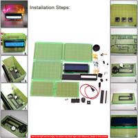 alarm clock kits - DIY LCD Calendar Penholder Electronic Clock Kit Buzz Alarm Temperature Display E0770