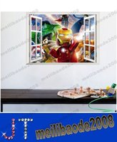 bedroom sets - 50 CM kid boy girl D ironman bedroom setting wall stickers removed creative home decoration MYY14608