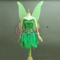 adult tinkerbell costumes - Custom Made Adult Princess Tinkerbell Dress Fancy Dress Movie Cosplay Costume Include Wings