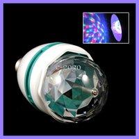 Wholesale 3W Mini Rotating Lamp E27 LED Stage Light Bulb RGB Full Color For DJ Party Dance
