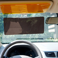 Wholesale New Arrivals Car Sunshade Mirrors Set Anti Glare Dazzling Goggle Day Night HD Vision Sun Visor With Retail BoxC266