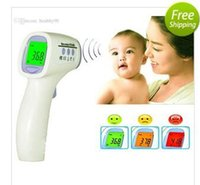 Wholesale 2016 New Muti fuction Baby Adult Digital Termomete Infrared Forehead Body Thermometer Gun Non contact Temperature Measurement Device Tools