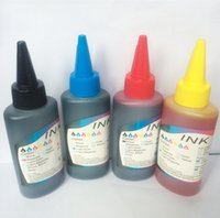 brother printer - 100ml universal Color C M Y K Refill Dye Ink for Canon HP Epson Brother Lexmark DELL Kodak Inkjet Printer CISS Ink Cartridge