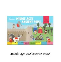 ancient middle ages - Play Scene Sticker Middle Age and Ancient Rome education child DIY toy Cartoon Animal Sticker Toy for kid baby boy Girl