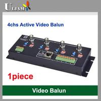 Precio de Balun pasivo de vídeo de 4 canales-Balun video activo del receptor de UAB-406R 4ch para el CCTV DVR Envío libre 330m con el transceptor pasivo 1500m con el transceptor activo