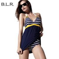 Cheap Plus Size 4XL Padded Navy Blue Halter Sk Best Swimwear Women One Piece Swimsuit Beachw