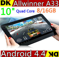 tablets pc - 10 inch A33 Quad Core Tablet PC Android Kitkat with Dual Camera WiFi OTG Bluetooth HD Tablet Allwinner A33 G GB GB