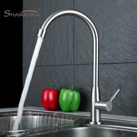 Wholesale 2016 New Arrival SUS304 Stainless Steel Nickel Kitchen Sink Faucet Degree Rotation Cold Tap