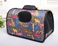 animal crates - Pet Puppy Dog Cat Carrier Hand Bag Wind proof Ventilated Light Travel Tote Animal Pattern Animal Bag