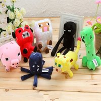 Wholesale IN STOCK set Minecraft toys Minecraft Plush Toy Doll Minecraft Serise dolls Minecraft Creeper stuffed doll Kids Xmas Gift
