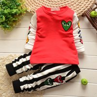 boutique clothes - Lovely babies clothes set long sleev tshirt tops striped trousers suit baby girl s outwear kids boutique clothing child casual wear