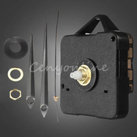 Clock Parts - NEW Black Plastic Metal Modern Simple Portable DIY Quartz Wall Clock Movement Mechanism Repair Parts Tools Set Kit With Hands