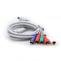Wholesale Hot Sale New High Definition P HD AV Audio Video Adapter HDTV Component Cable Wire For Nintendo For Wii Game