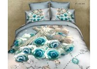 Wholesale 3D Floral Bedding Comforter Sets Full Queen Size Duvet Cover Bedspreads Pillow Shams Bedding Sheet Bed in a Bag Cotton