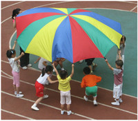 activity toys direct - Factory Direct Sale Rainbow Umbrella Super Sturdy Toy Parachute Canopy With Handles Teamwork Exercise Training Activity