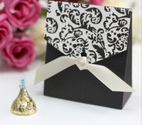 black paper - black printed Paper candy boxes Wedding Party Decoration Supplies Decor Paper Gift favor Holders