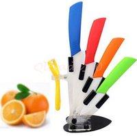 Wholesale 100set CCA3330 FINDKING High Quality set Kitchen Knife Fruit Knife Ceramic Knife Kitchen Knife Set quot quot quot quot inch Peeler With Covers