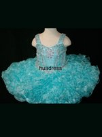 cupcake pageant dresses - Beautiful Cute Infant Cupcake Pageant Dresses Spaghetti Stunning Muti LayerOrganza With Beading Custom All Size Flower Girl Dresses FL120507