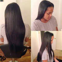 Natural Black Color Brazilian hair Straight 100% Unprocessed Straight Front Lace Wigs Brazilian Lace Front Wig 6A Grade Human Virgin Hair Wig Best Long Wigs For Black Women