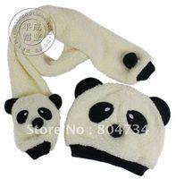 Wholesale The pandas children hat scarf kit