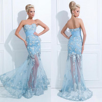 Cheap Ice Blue Mermaid Prom Dresses  Free Shipping Ice Blue ...