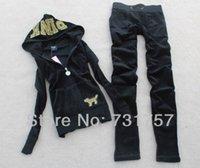 Wholesale CN PINK Velvet Tracksuit women brand Leisure Suit sport Tracksuit homies Hoodies Pants SIZE S XL pk_tmwlr1