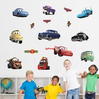 baby boy wallpapers - Cartoon car child room decoration wall stickers for kids rooms boys girl nursery decor wallpaper for kids baby room wall sticker