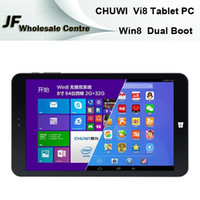 Wholesale CHUWI Vi8 Windows Tablet PC Android Quad Core Intel Z3735F Dual Boot GB GB IPS HD x Bluetooth OTG