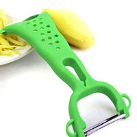 Wholesale Stainless Steel Graters Kitchen Paring Knife Slicer Gadget Vegetable Fruit Turnip Carrot Peeler Cooking Tools JE0195